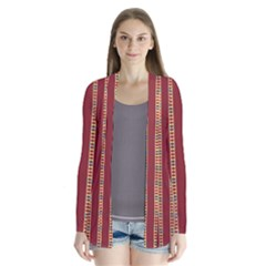 Pattern Background Red Stripes Cardigans