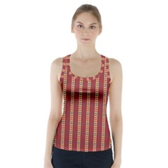 Pattern Background Red Stripes Racer Back Sports Top