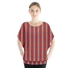 Pattern Background Red Stripes Blouse