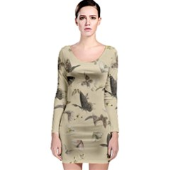 Vintage Old Fashioned Antique Long Sleeve Bodycon Dress