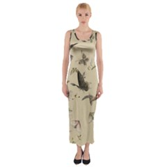 Vintage Old Fashioned Antique Fitted Maxi Dress