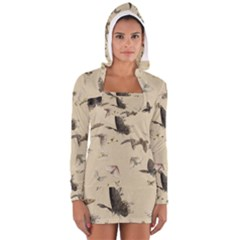 Vintage Old Fashioned Antique Women s Long Sleeve Hooded T Shirt