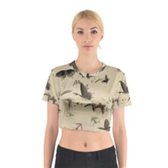 Vintage Old Fashioned Antique Cotton Crop Top