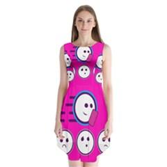 Run Face Pink Sleeveless Chiffon Dress
