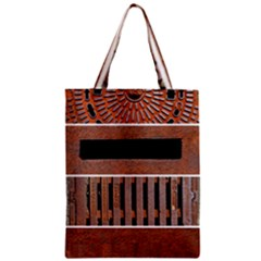 Stainless Structure Collection Zipper Classic Tote Bag