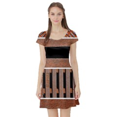 Stainless Structure Collection Short Sleeve Skater Dress