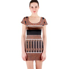 Stainless Structure Collection Short Sleeve Bodycon Dress