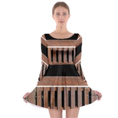 Stainless Structure Collection Long Sleeve Skater Dress