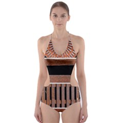 Stainless Structure Collection Cut Out One Piece Swimsuit