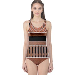 Stainless Structure Collection One Piece Swimsuit