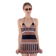 Stainless Structure Collection Halter Swimsuit Dress