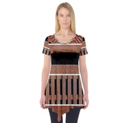 Stainless Structure Collection Short Sleeve Tunic