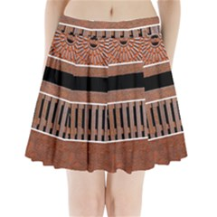 Stainless Structure Collection Pleated Mini Skirt