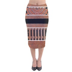 Stainless Structure Collection Velvet Midi Pencil Skirt