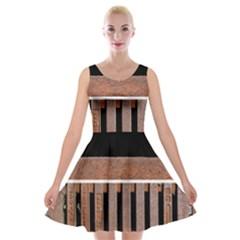 Stainless Structure Collection Velvet Skater Dress