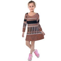 Stainless Structure Collection Kids  Long Sleeve Velvet Dress