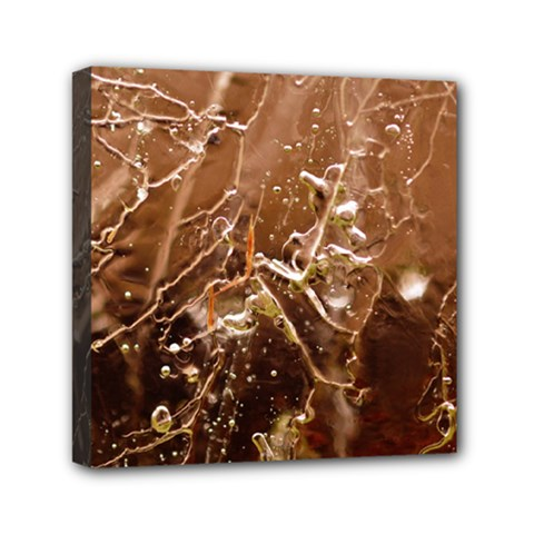 Ice Iced Structure Frozen Frost Mini Canvas 6  X 6