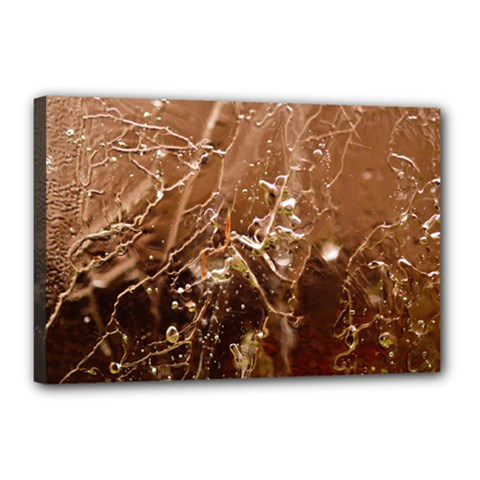 Ice Iced Structure Frozen Frost Canvas 18  X 12