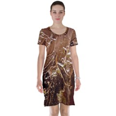 Ice Iced Structure Frozen Frost Short Sleeve Nightdress