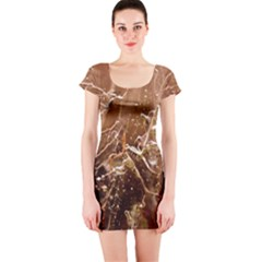 Ice Iced Structure Frozen Frost Short Sleeve Bodycon Dress