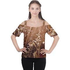 Ice Iced Structure Frozen Frost Women s Cutout Shoulder Tee