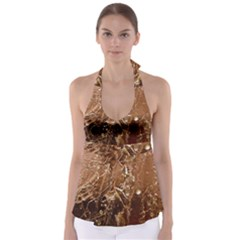 Ice Iced Structure Frozen Frost Babydoll Tankini Top