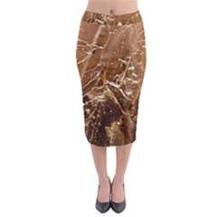 Ice Iced Structure Frozen Frost Midi Pencil Skirt