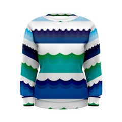 Water Border Water Waves Ocean Sea Women s Sweatshirt