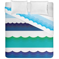 Water Border Water Waves Ocean Sea Duvet Cover Double Side (california King Size)