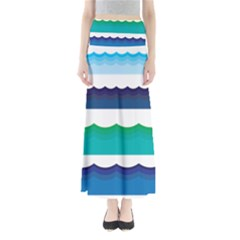 Water Border Water Waves Ocean Sea Maxi Skirts
