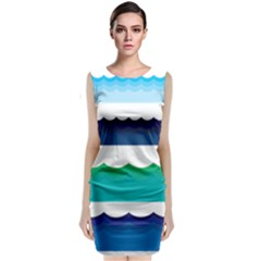 Water Border Water Waves Ocean Sea Classic Sleeveless Midi Dress