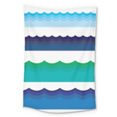Water Border Water Waves Ocean Sea Large Tapestry