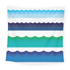 Water Border Water Waves Ocean Sea Square Tapestry (large)