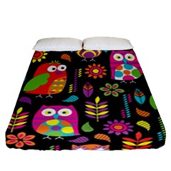 Ultra Soft Owl Fitted Sheet (queen Size)