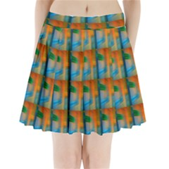 Wall Of Colour Duplication Pleated Mini Skirt