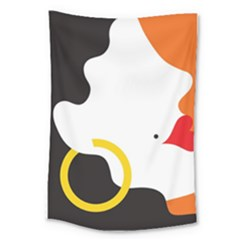 Woman s Face Large Tapestry