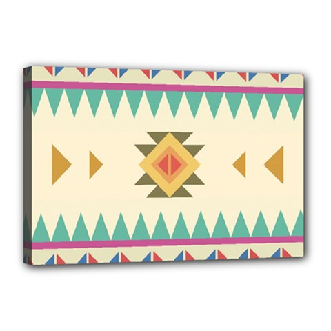 Your First Aztec Pattern Canvas 18  X 12