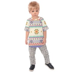 Your First Aztec Pattern Kids  Raglan Tee