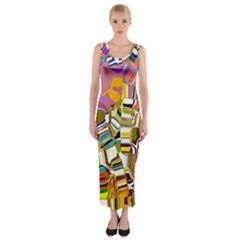 Empire State In Manhattan Fitted Maxi Dress