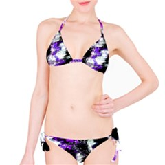 Abstract Canvas Acrylic Digital Design Bikini Set