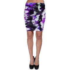 Abstract Canvas Acrylic Digital Design Bodycon Skirt