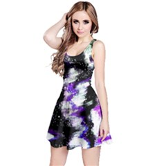 Abstract Canvas Acrylic Digital Design Reversible Sleeveless Dress
