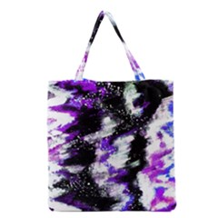 Abstract Canvas Acrylic Digital Design Grocery Tote Bag
