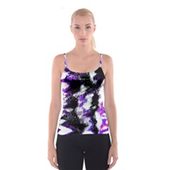 Abstract Canvas Acrylic Digital Design Spaghetti Strap Top