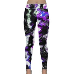 Abstract Canvas Acrylic Digital Design Classic Yoga Leggings