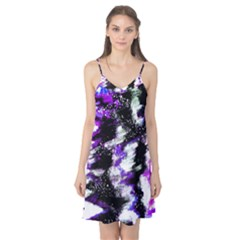 Abstract Canvas Acrylic Digital Design Camis Nightgown