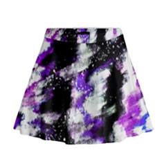 Abstract Canvas Acrylic Digital Design Mini Flare Skirt