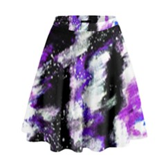 Abstract Canvas Acrylic Digital Design High Waist Skirt