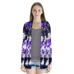 Abstract Canvas Acrylic Digital Design Cardigans