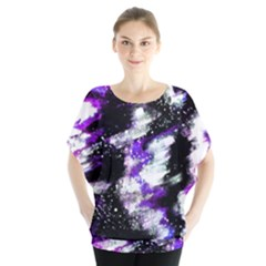 Abstract Canvas Acrylic Digital Design Blouse